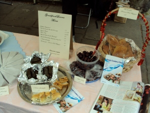 My stall at Marylebone High Street market