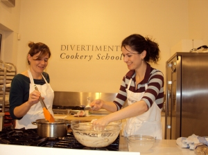 Making loukoumades at Divertimenti Cookery School